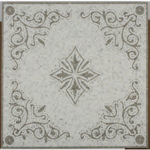 Close Out - Medallion Square Diamond Oriental White & Lady Gray