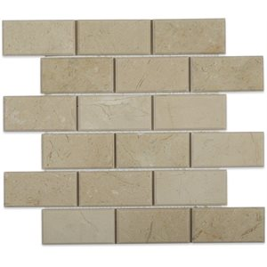 Crema Marfil 2x4 Beveled Brick