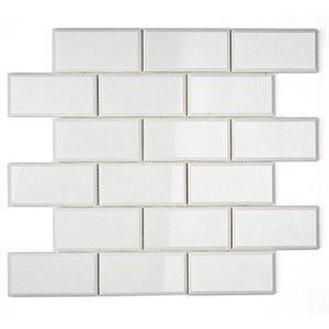 White Thassos 2x4 Beveled Brick