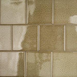 Close Out - Art Glass 4x4 Smoky Fern