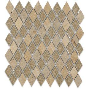 Close Out - Art Glass Country Travertine Diamond