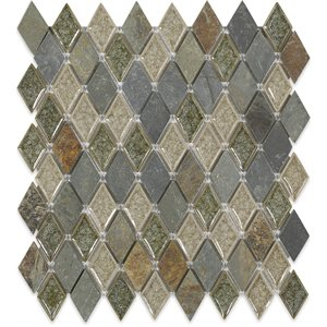 Close Out - Art Glass Rustic Slate Diamond