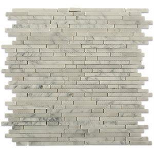 Bullet Pattern White Carrara