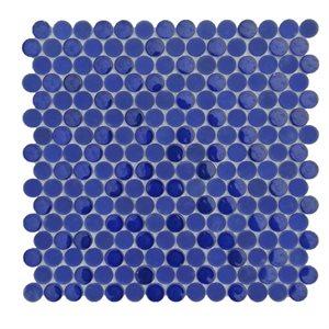 Crystal Cobalt Blue Circles