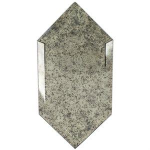 Elongated Beveled Hexagon Antique Mirror