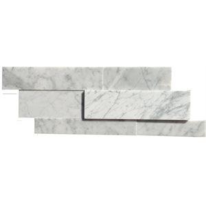 Close Out - Epoch White Carrara Dimension Spa 8x20 Honed