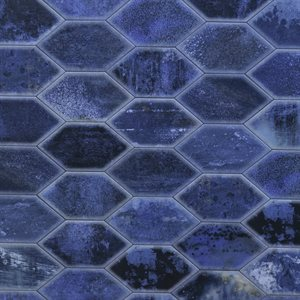 Bonjour Hexagon Blue 7x13