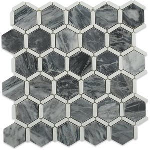 Honeycomb Dark Bardiglio & Thassos