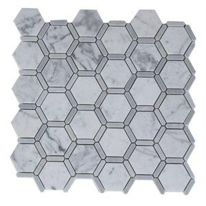 Honeycomb White Carrara & Light Bardiglio