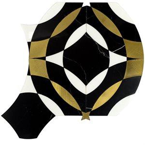 Kaleidoscope Mystique - Nero Marquina, White Thassos & Brass