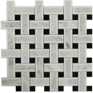 Lattice White Thassos with Light Gray & Black