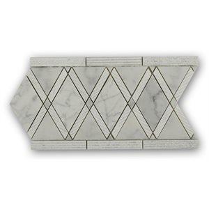 Majestic Border Textured White Carrara