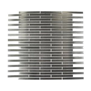 Metal Stainless 3 / 8x 4 Brick