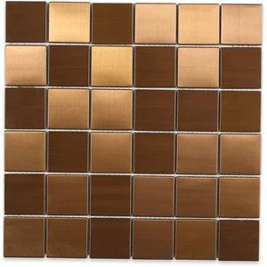 Metal Copper Matte 2x2 Squares