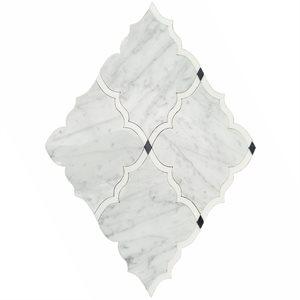 MJ Amina - White Carrara, White Thassos & Bardiglio Dots