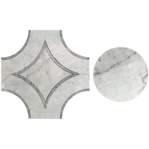 Close Out - MJ Star 2.0 Carrara with Sky Gray Line & Carrara Circle