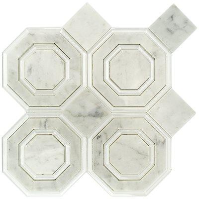 Close Out - Omni Hex White Carrara & Super White Polished Line