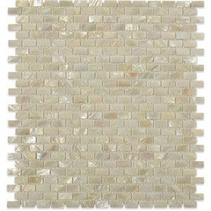 Pearl White Flat Mini Brick