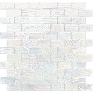 Aqueous - Iridescent White 1x2