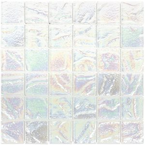 Aqueous - Iridescent White 2x2