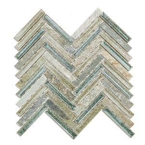 Art Glass Herringbone Quartz Sea