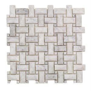 Close Out - Dimension Weave White Carrara