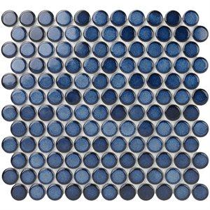 "Close Out - Denim 1"" Faded Cobalt Circles"