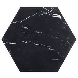 "Epoch Nero Marquina 10"" Hexagon Honed"