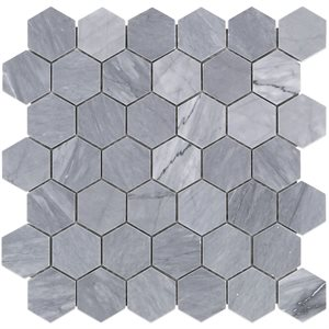 "Burlington Gray 2"" Hexagon"