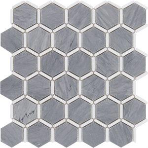 Honeycomb Burlington Gray & White Thassos