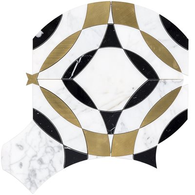 Kaleidoscope Magnifique - Calacatta, Nero & Brass