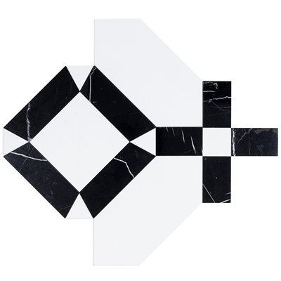 Close Out - MJ Immaculata - Crystallized Porcelain Tile & Black Jade