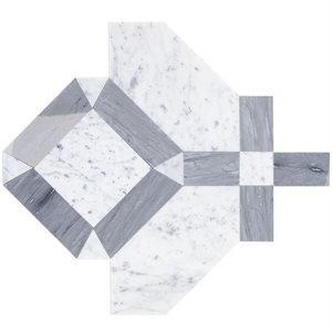 Close Out - MJ Immaculata - White Carrara & Burlington Gray