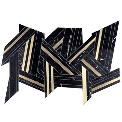 MJ Shards - Black Jade & Brass