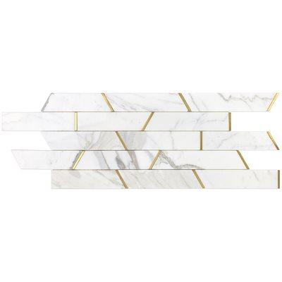 Oracle Trapezoid Calacatta Gold & Brass