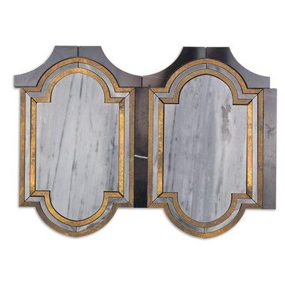 Ornato Messina - Bardiglio Imperial, Brass & Black Jade