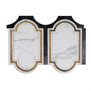 Ornato Pisa - Calacatta, Brass & Black Jade