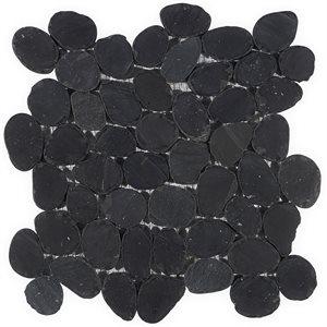 Pebblestone Alor Black Sliced Round Natural Stone
