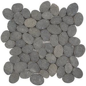Pebblestone Black Lava Sliced Round Natural Stone