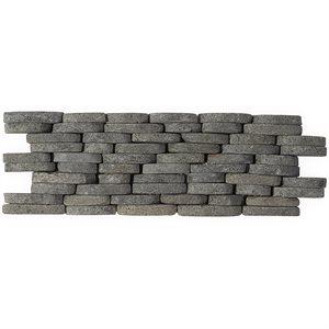 Pebblestone Black Lava Stacked Sliced Natural Stone
