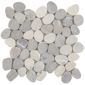 Pebblestone Prambanan Grey Sliced Round Natural Stone