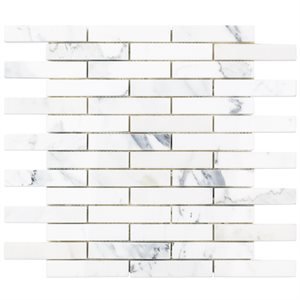 Calacatta 1x4 Piano Brick