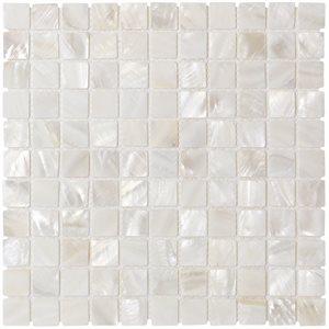 Pearl White Flat 1x1 Squares