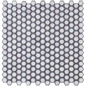Simple Rimmed Hexagon Vintage White
