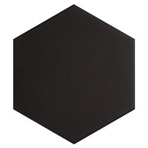 "Classic Hex Black 10"" Hexagon"