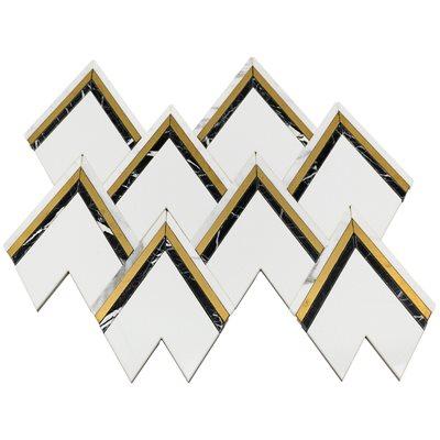 Vanessa DeLeon - Crystallized Thassos with Nero, Brass & Calacatta Line