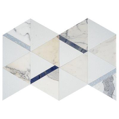 Wunder 2.0 Calacatta Azu l- Crystal Tech, Calacatta with Blue Lines