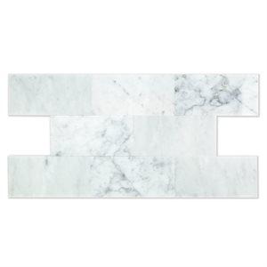 White Carrara 3x6 Polished