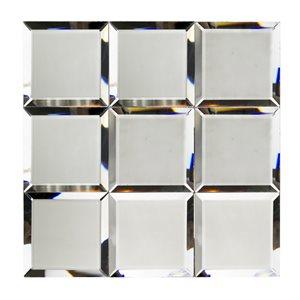 Mirror Dark Gray 4x4 Beveled