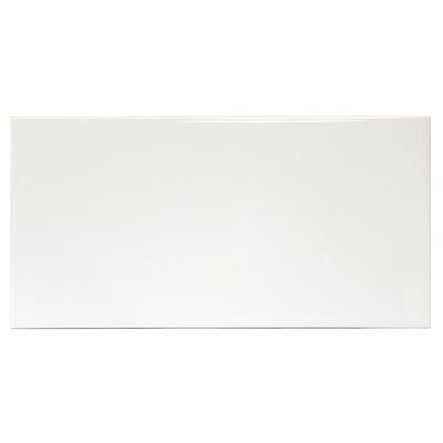 Everyday X White Ceramic Tile - 8 x 16 white ceramic tile